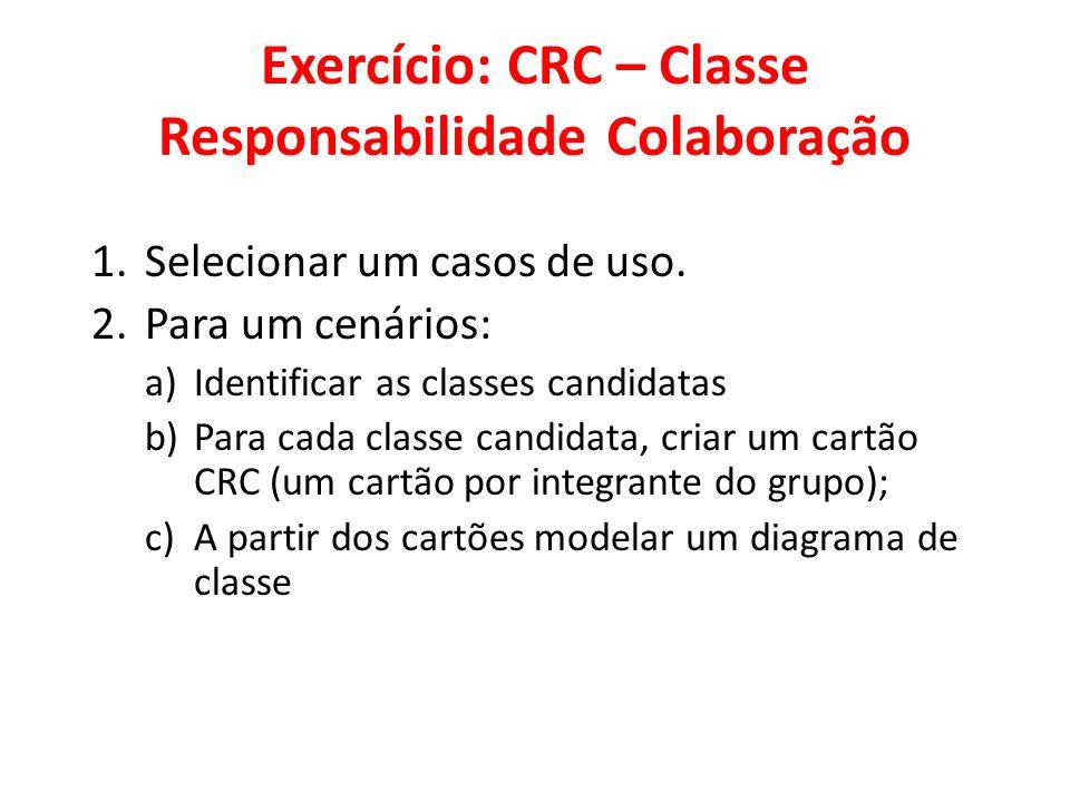Exercício: CRC – Classe Responsabilidade Colaboração