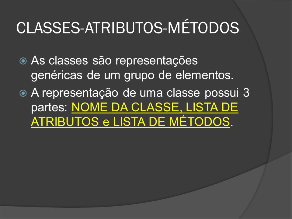 CLASSES-ATRIBUTOS-MÉTODOS