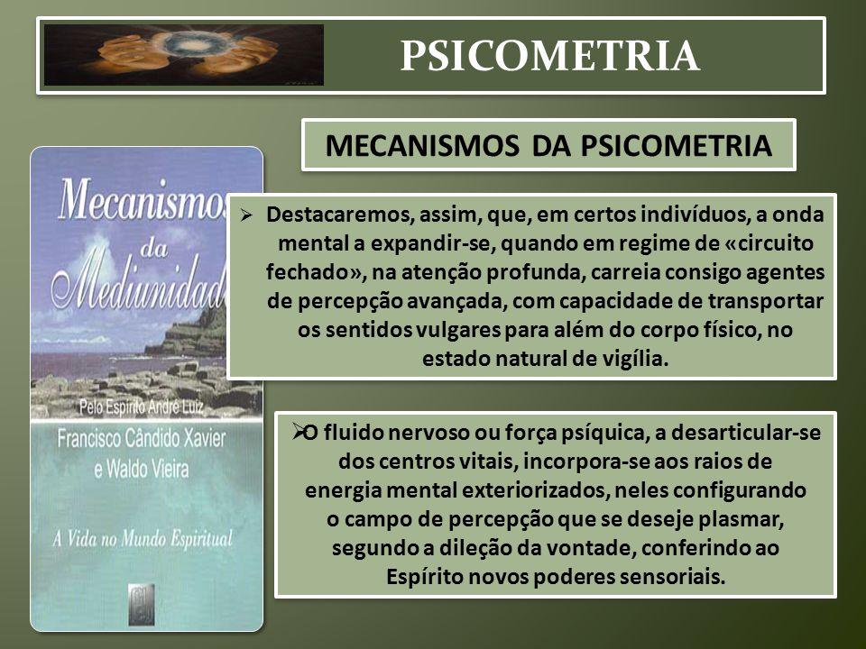 MECANISMOS DA PSICOMETRIA