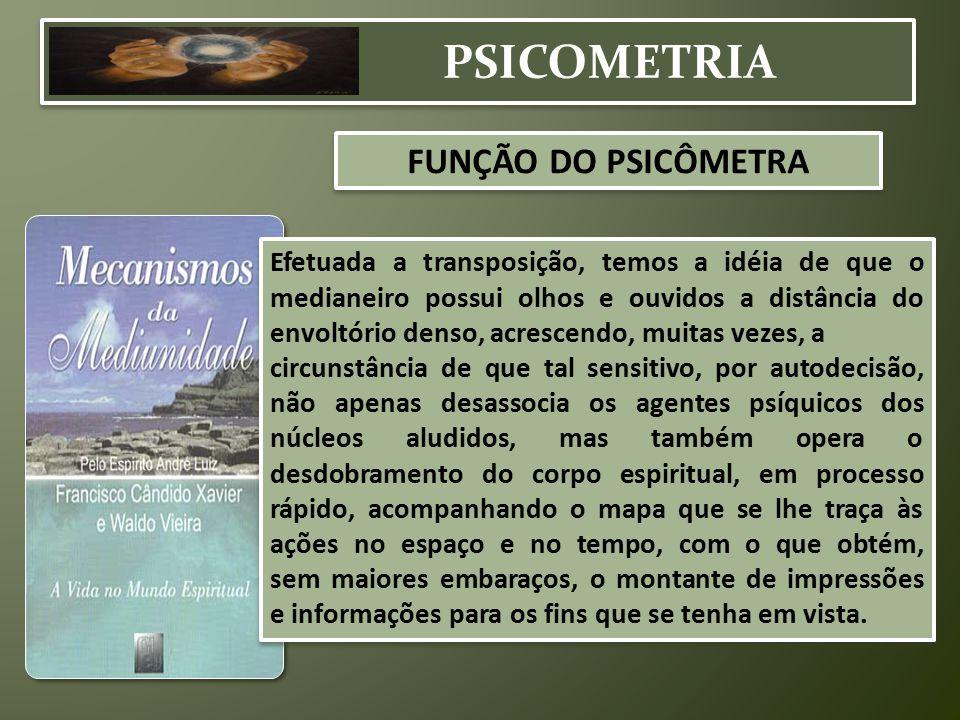 PSICOMETRIA FUNÇÃO DO PSICÔMETRA