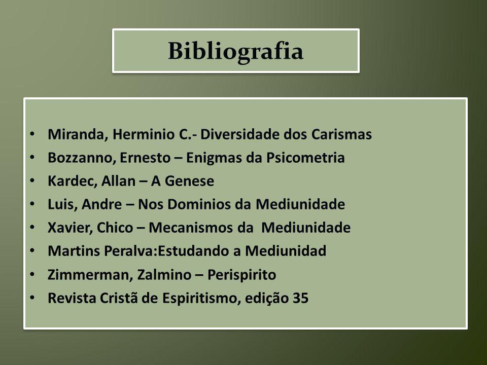 Bibliografia Miranda, Herminio C.- Diversidade dos Carismas