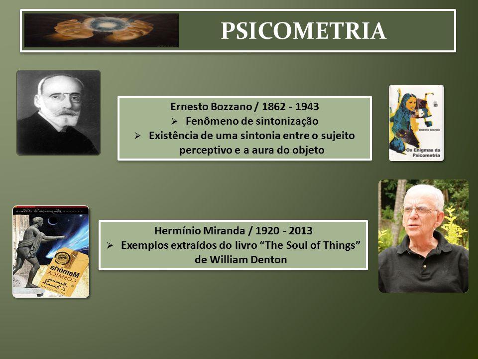 PSICOMETRIA Ernesto Bozzano / 1862 - 1943 Fenômeno de sintonização
