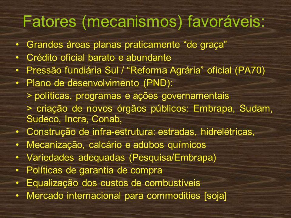 Fatores (mecanismos) favoráveis:
