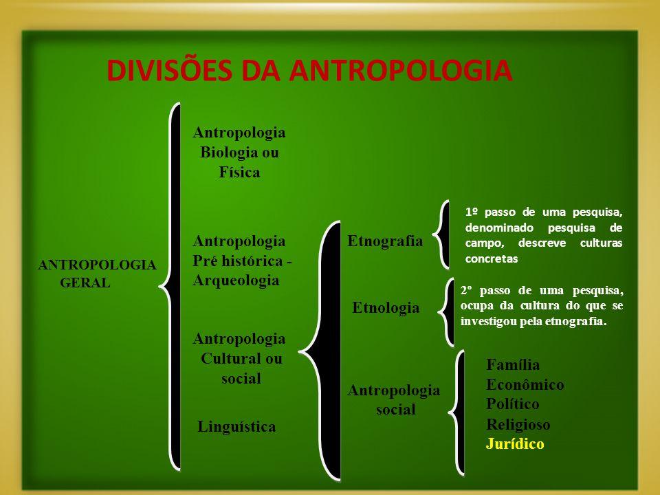 DIVISÕES DA ANTROPOLOGIA