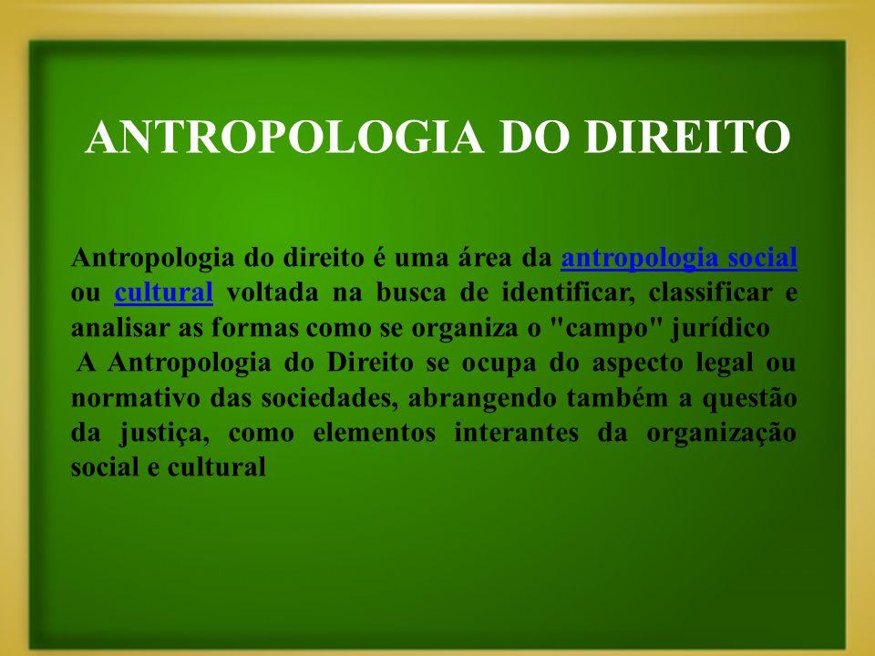 ANTROPOLOGIA DO DIREITO