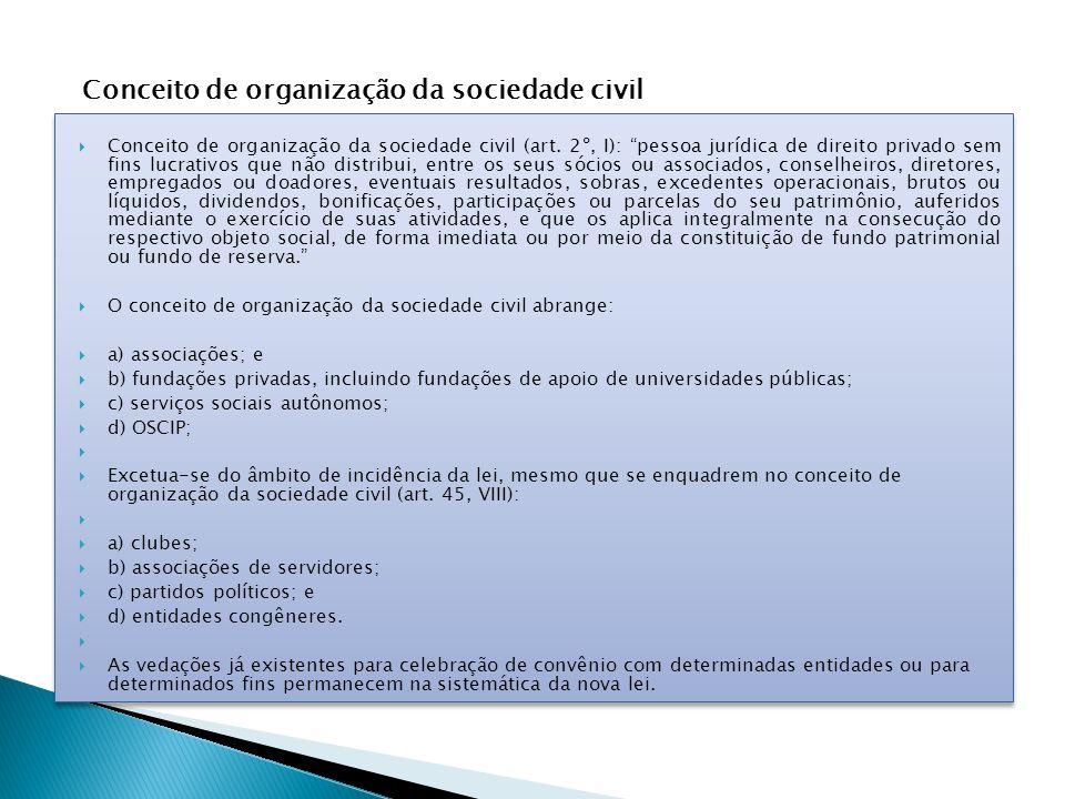 Conceito de organização da sociedade civil