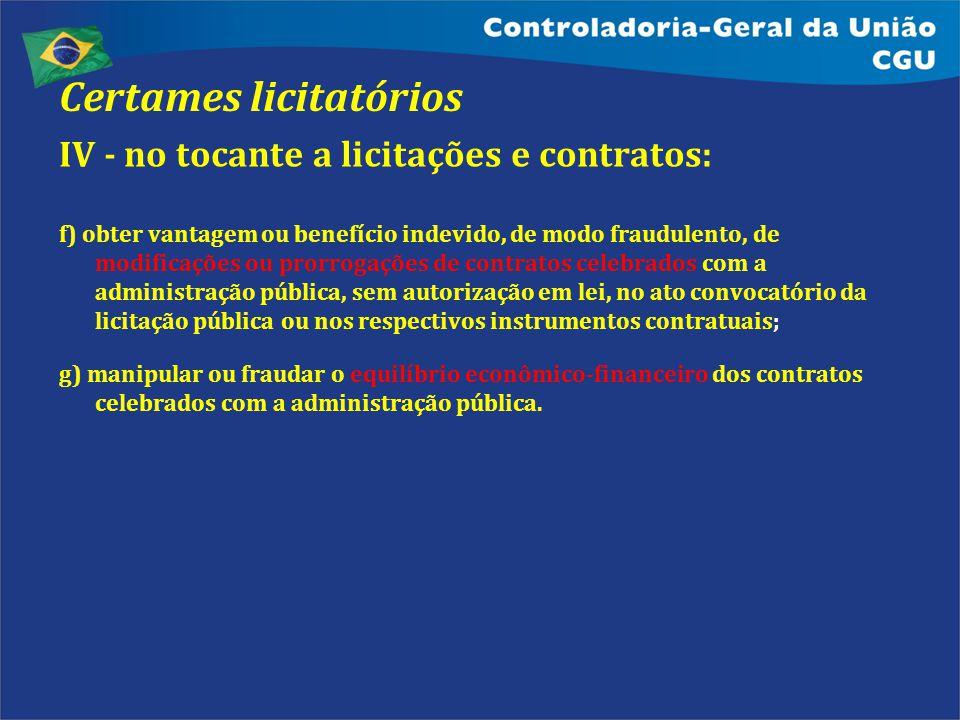 Certames licitatórios