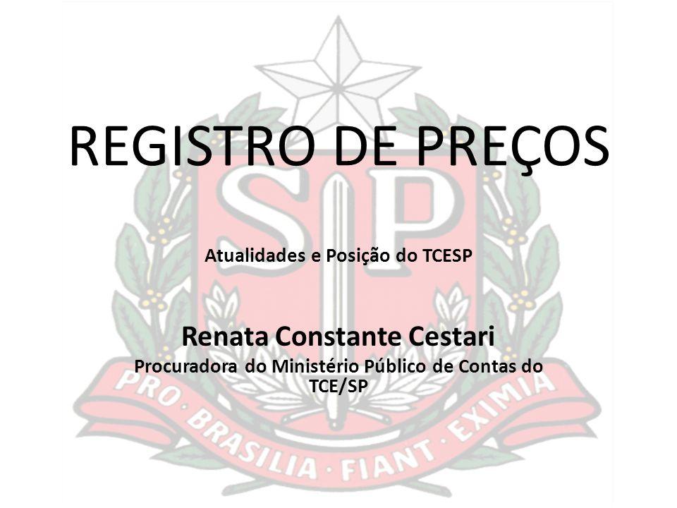 REGISTRO DE PREÇOS Renata Constante Cestari