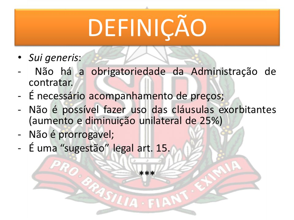 DEFINIÇÃO Sui generis: