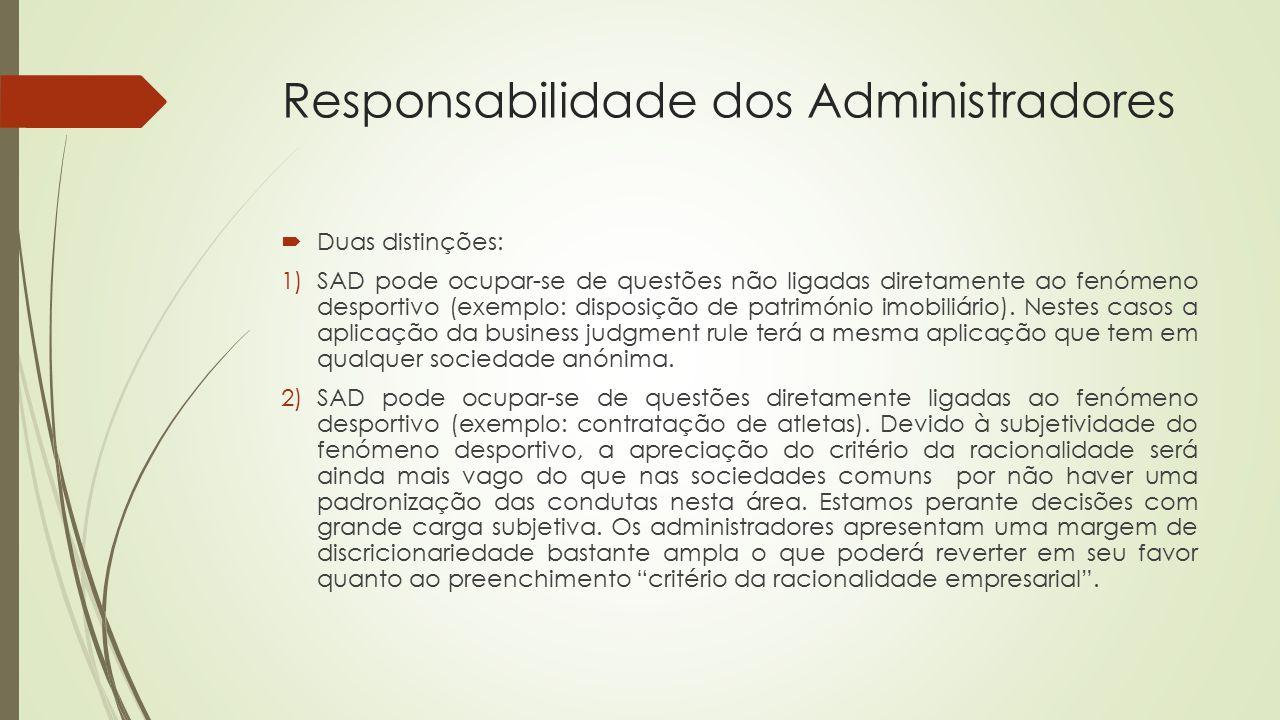 Responsabilidade dos Administradores