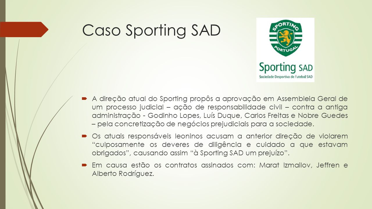 Caso Sporting SAD