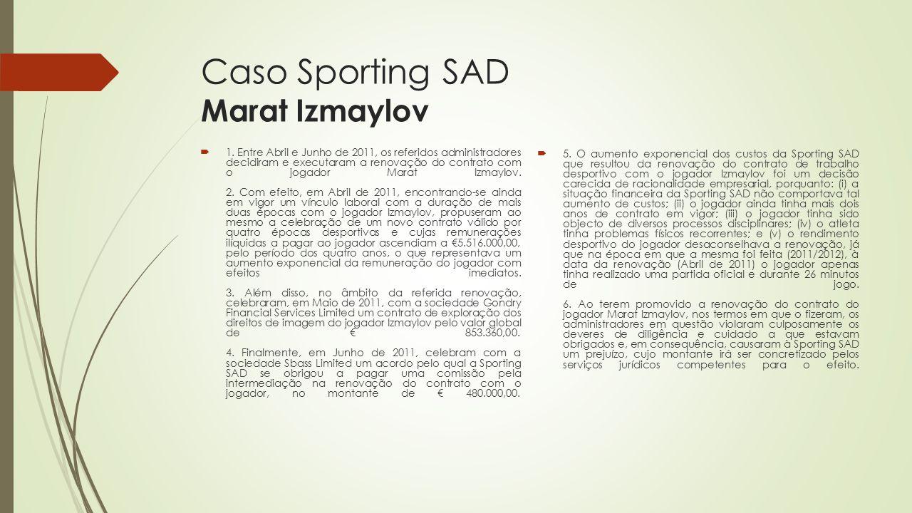 Caso Sporting SAD Marat Izmaylov