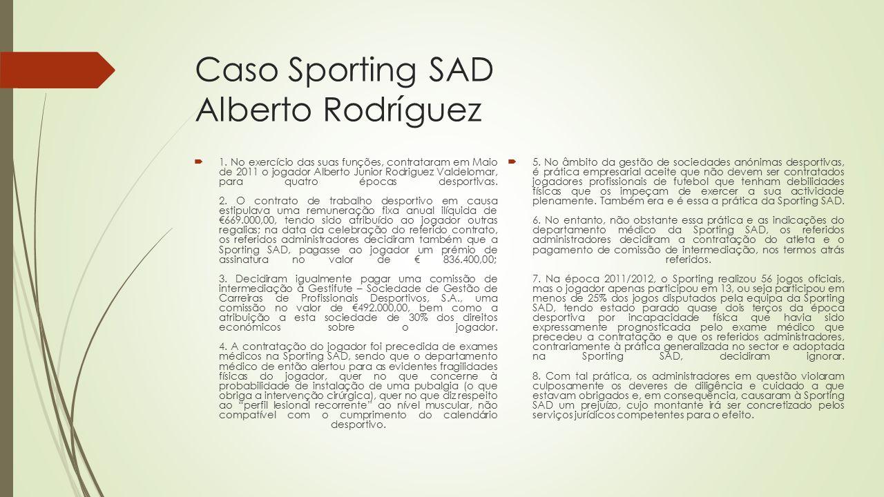 Caso Sporting SAD Alberto Rodríguez