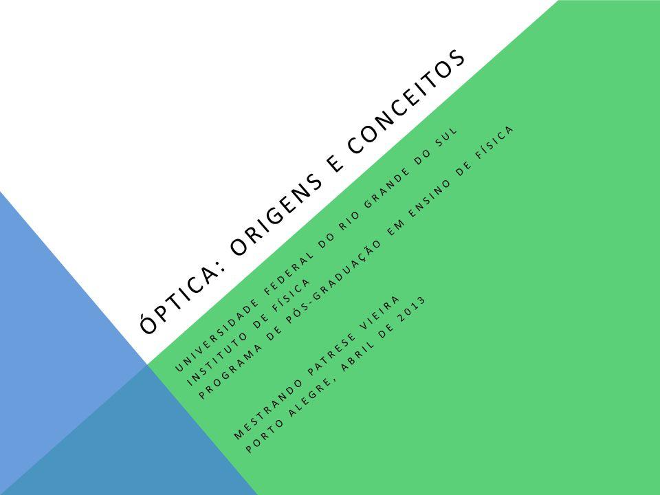 Óptica: origens e conceitos