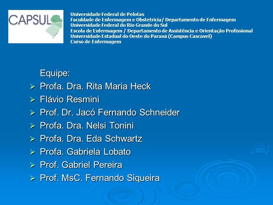 Profa. Dra. Rita Maria Heck Flávio Resmini