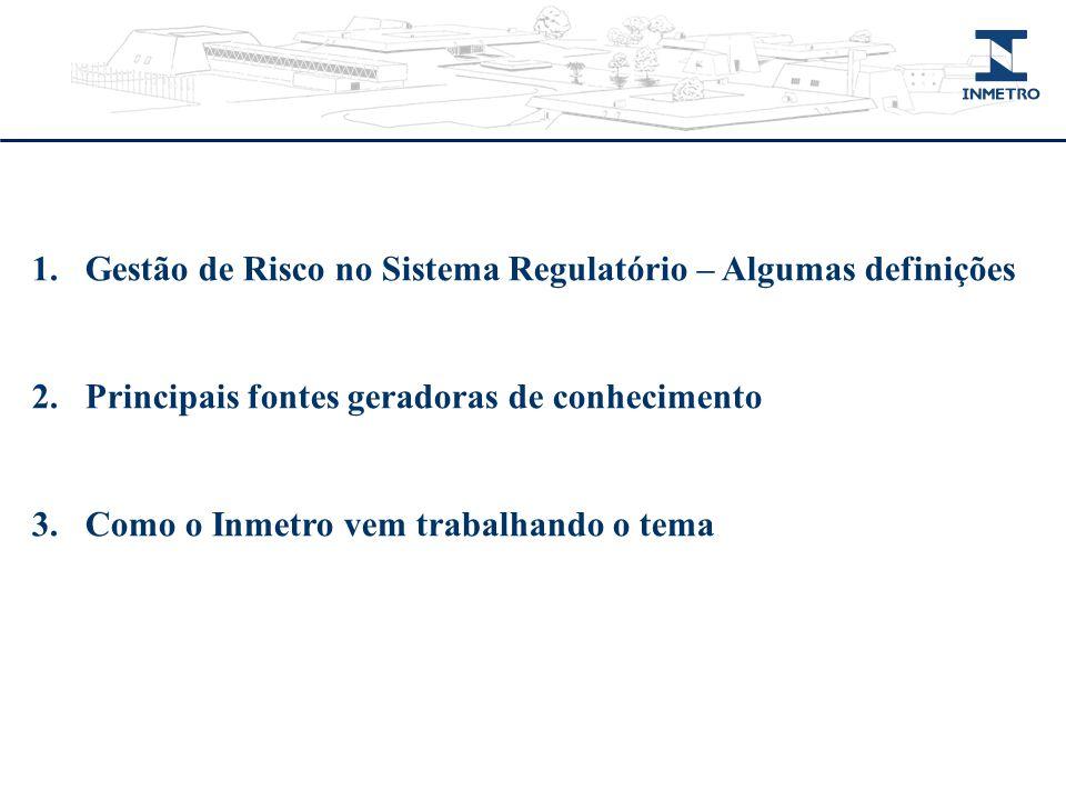 Gestão de Risco no Sistema Regulatório – Algumas definições