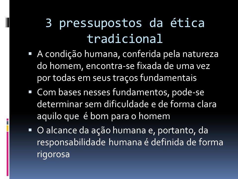 3 pressupostos da ética tradicional