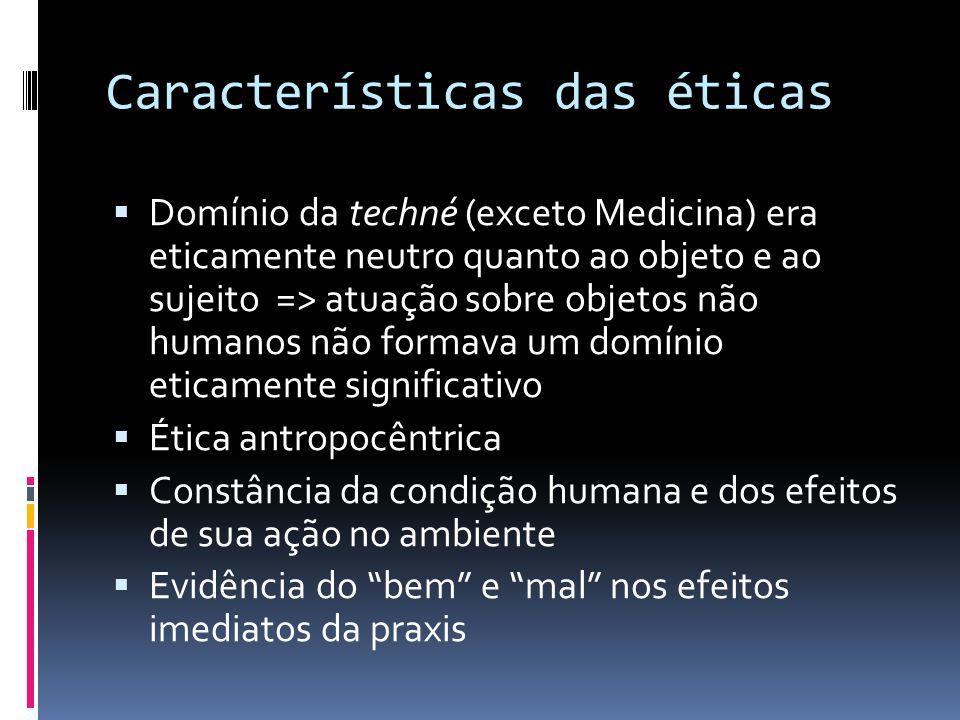 Características das éticas