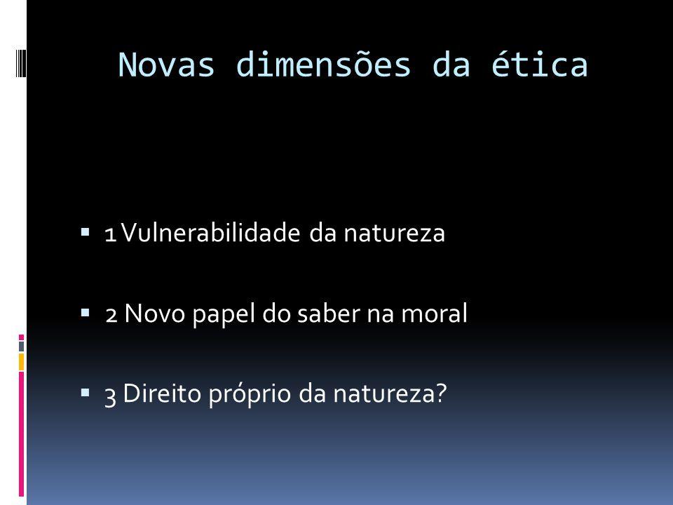 Novas dimensões da ética
