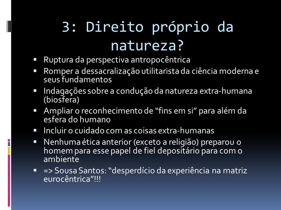 3: Direito próprio da natureza