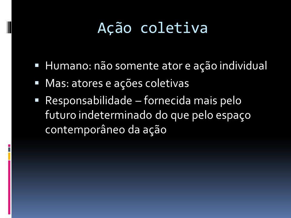 Ação coletiva Humano: não somente ator e ação individual