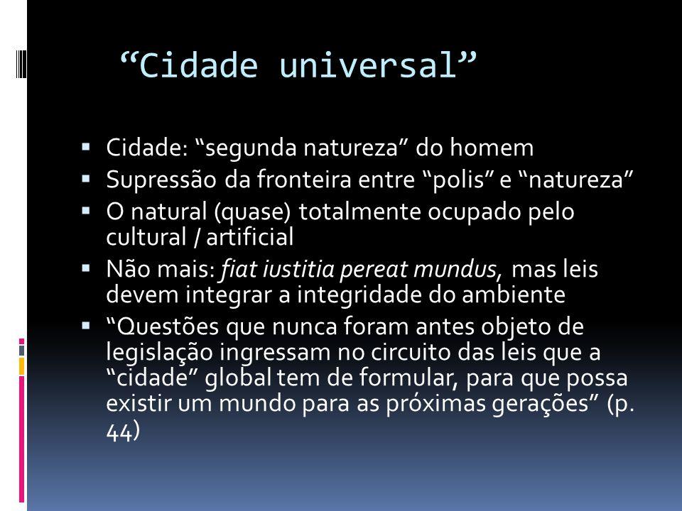Cidade universal Cidade: segunda natureza do homem