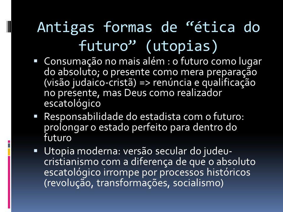 Antigas formas de ética do futuro (utopias)
