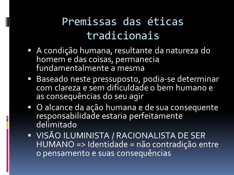 Premissas das éticas tradicionais