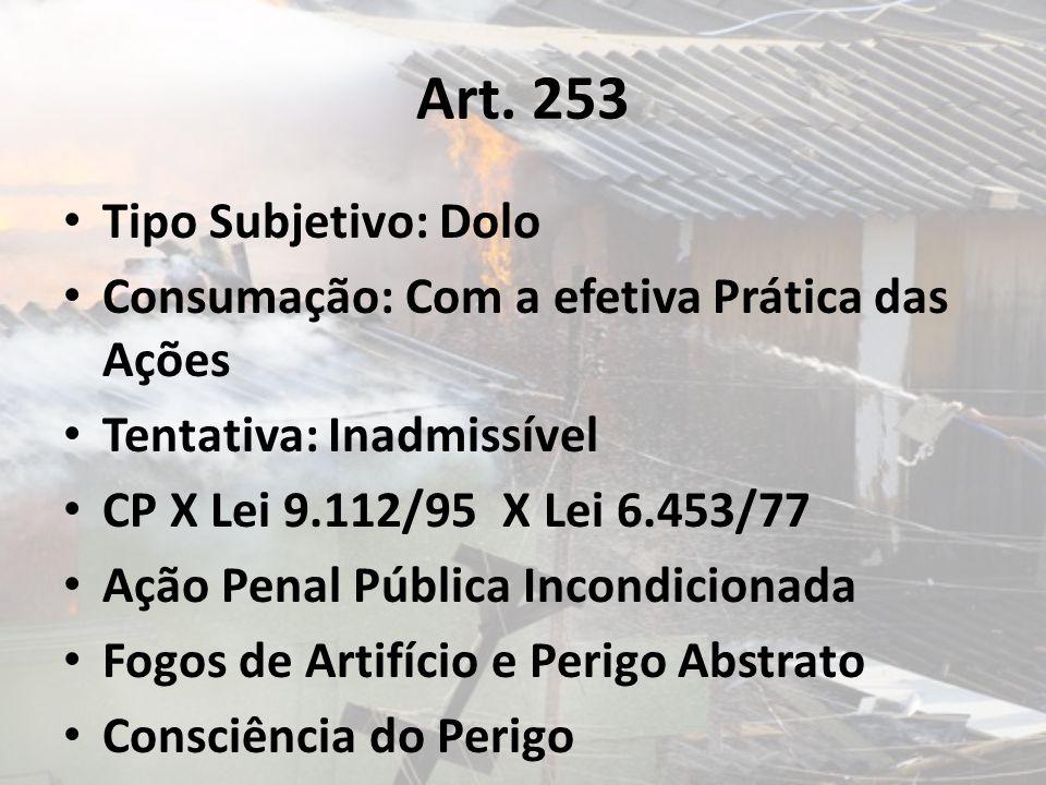 Art. 253 Tipo Subjetivo: Dolo