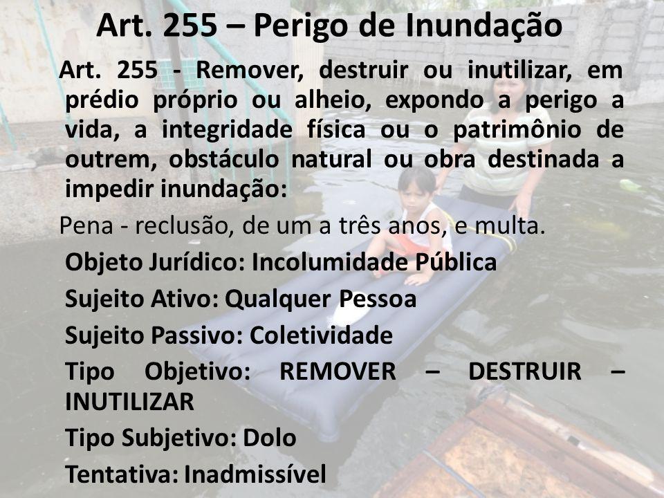 Art. 255 – Perigo de Inundação