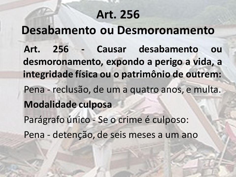Art. 256 Desabamento ou Desmoronamento