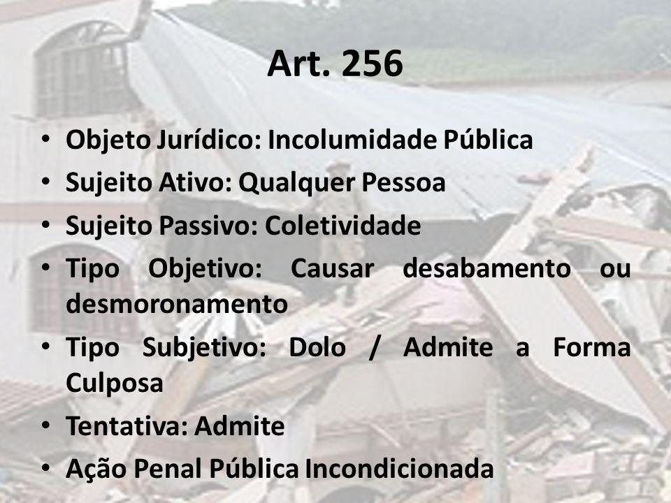 Art. 256 Objeto Jurídico: Incolumidade Pública
