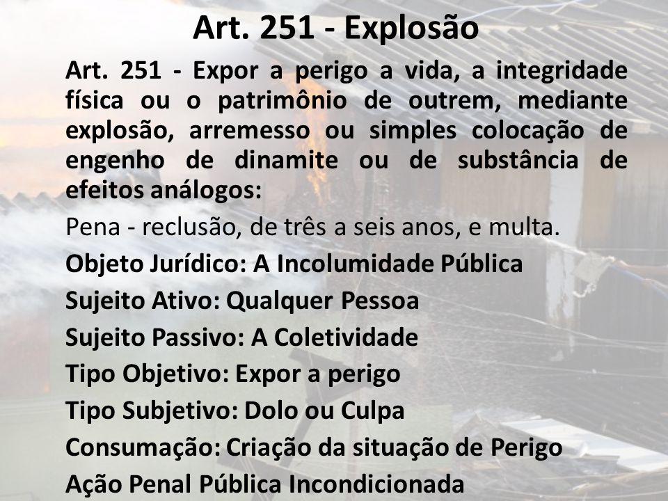 Art. 251 - Explosão