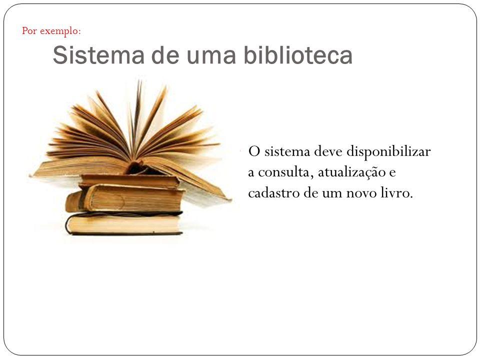 Sistema de uma biblioteca