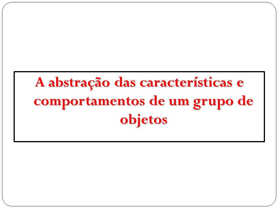 A abstração das características e comportamentos de um grupo de objetos
