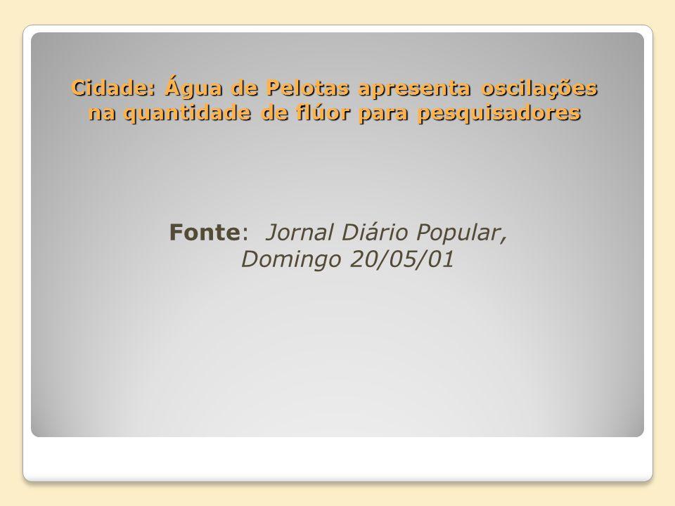 Fonte: Jornal Diário Popular, Domingo 20/05/01