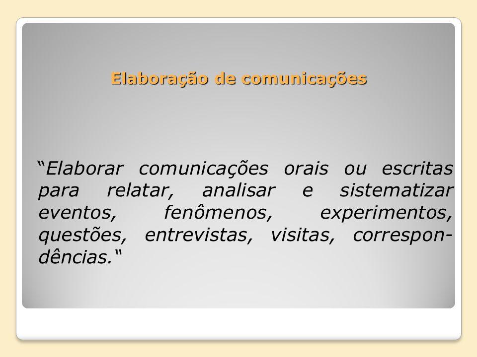 Elaboração de comunicações