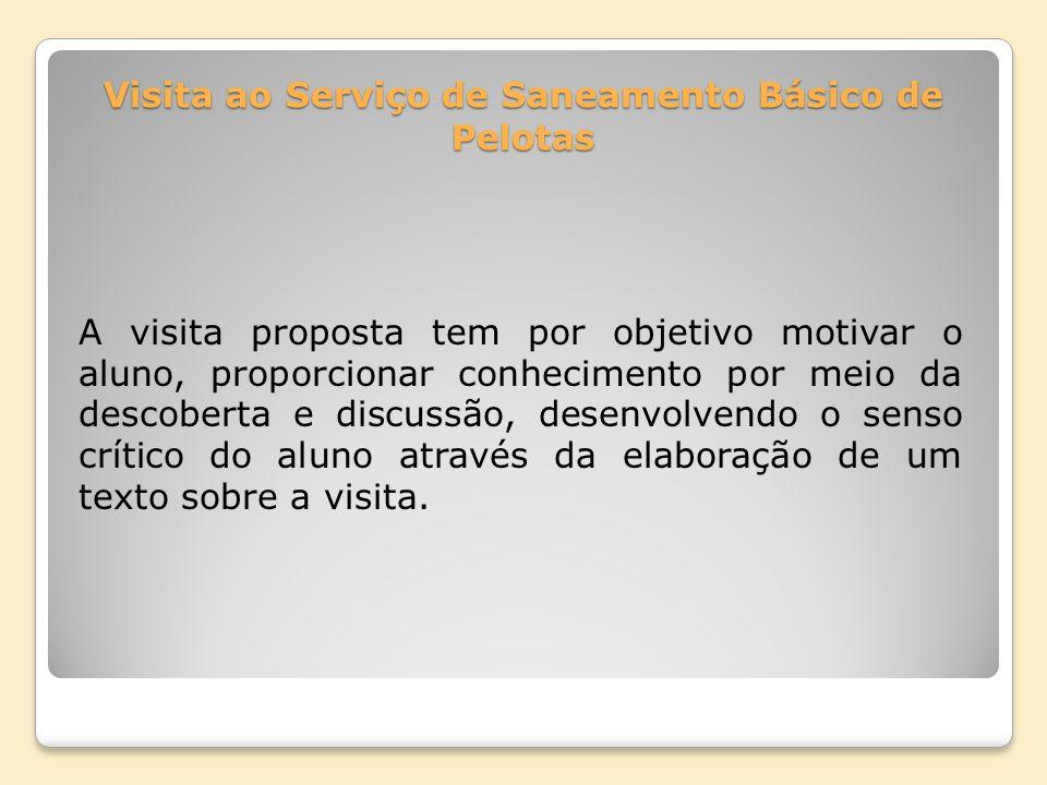 Visita ao Serviço de Saneamento Básico de Pelotas
