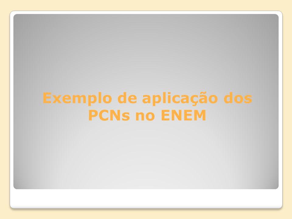 Exemplo de aplicação dos PCNs no ENEM