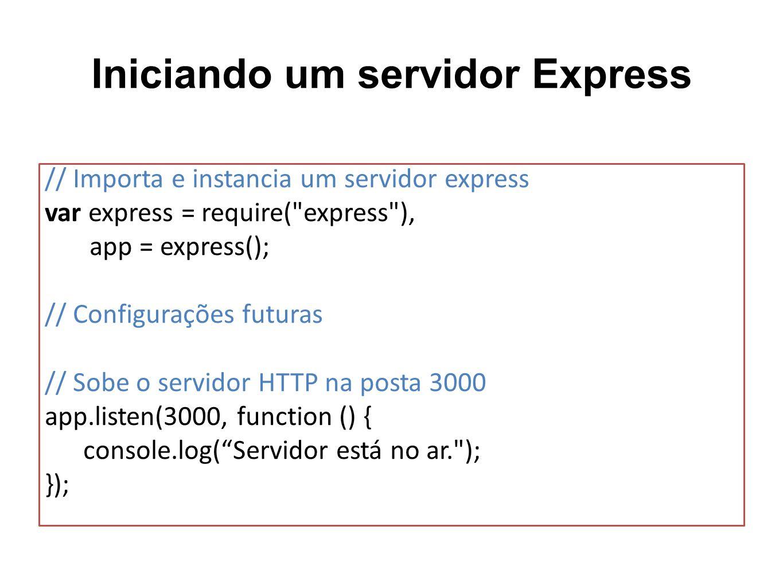 Iniciando um servidor Express
