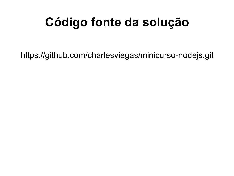 Código fonte da solução