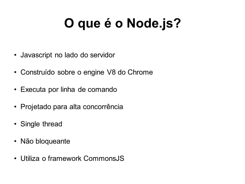 O que é o Node.js Javascript no lado do servidor