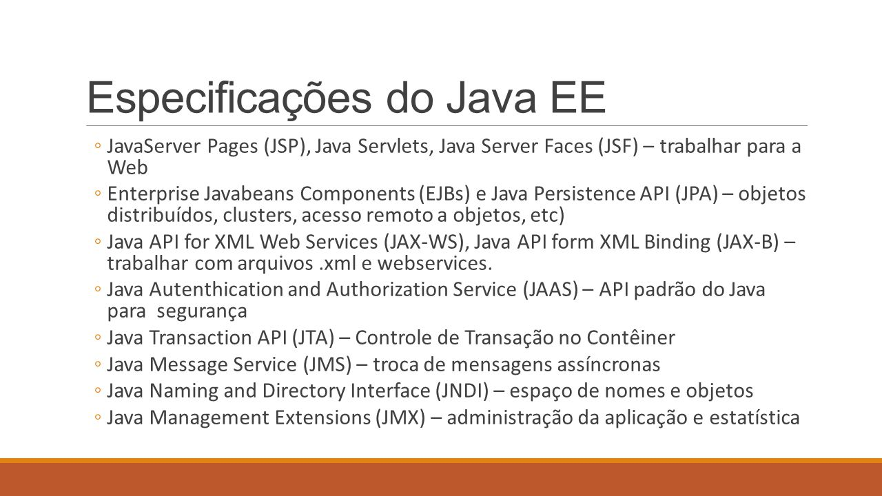 Especificações do Java EE
