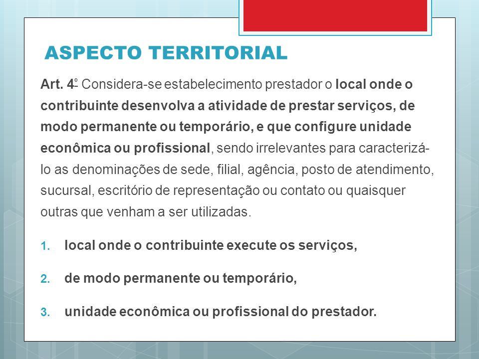 ASPECTO TERRITORIAL