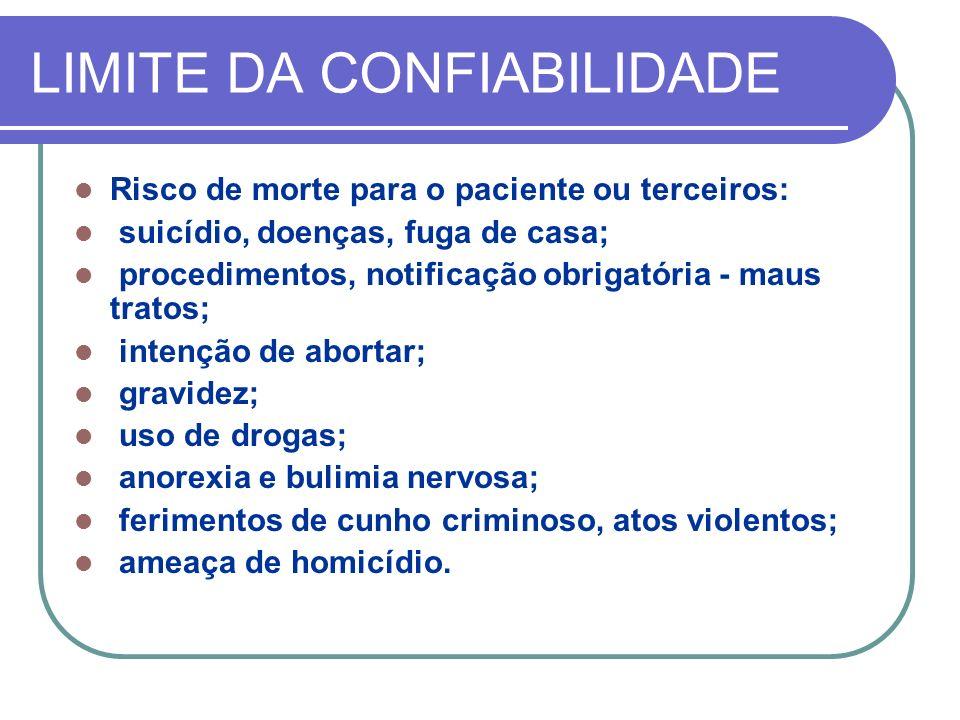 LIMITE DA CONFIABILIDADE