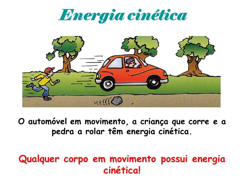 Qualquer corpo em movimento possui energia cinética!