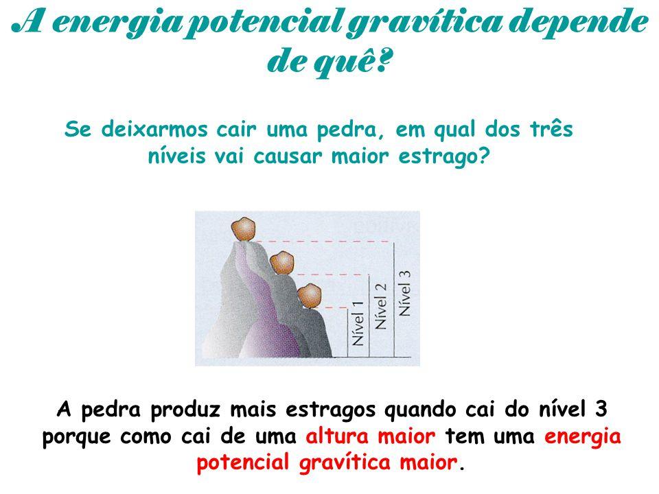 A energia potencial gravítica depende de quê