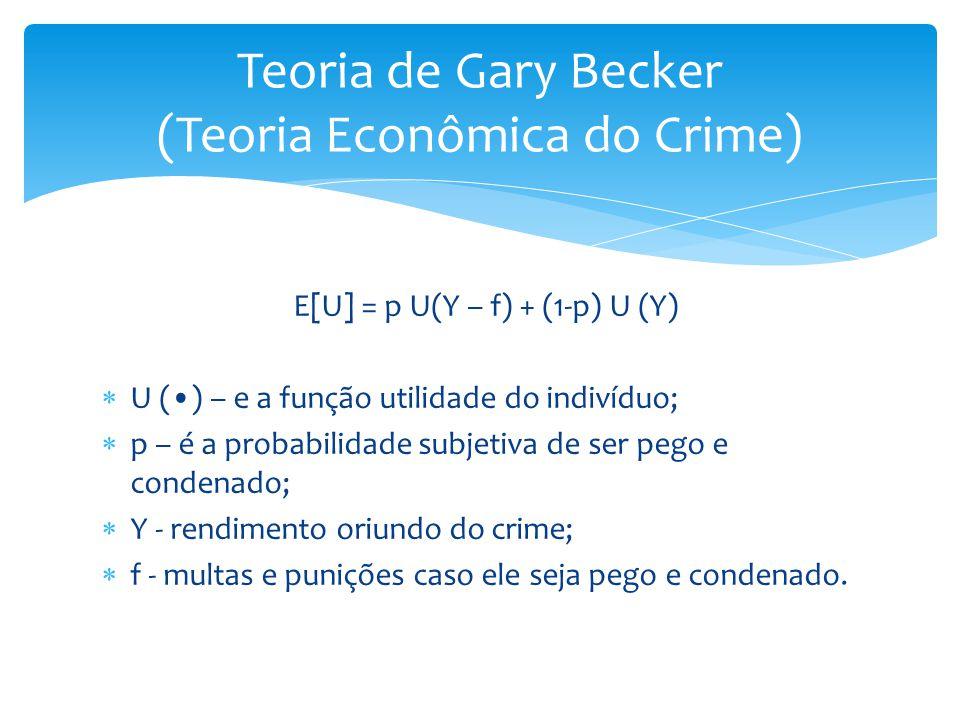 Teoria de Gary Becker (Teoria Econômica do Crime)