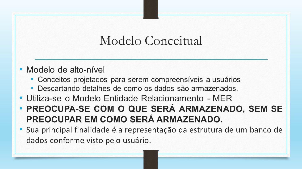 Modelo Conceitual Modelo de alto-nível