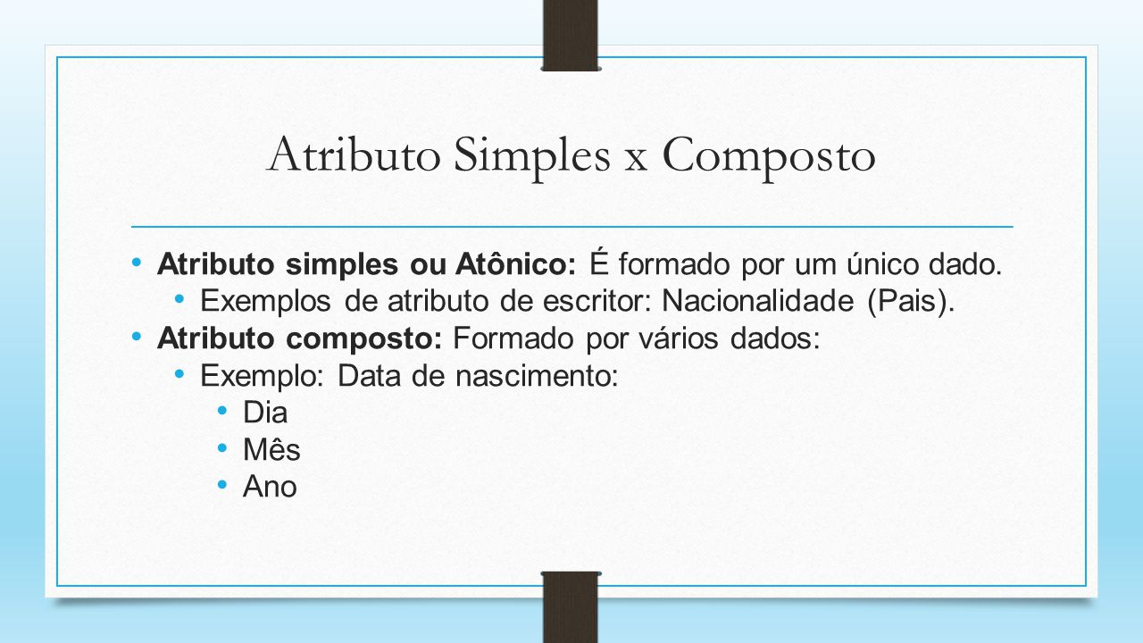 Atributo Simples x Composto